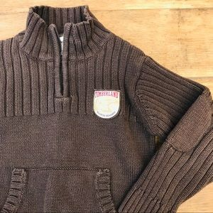Timberlands Knit Boys 4T Brown Pullover Sweater